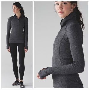 Lululemon Athletica Think Fast Pullover Herringbne